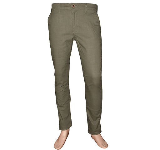 Slim Fit Cotton Chino Pant For Men - Light Green