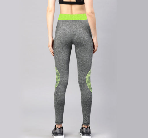Green Printed Sports Legging Yoga Pants for Her - Hiffey