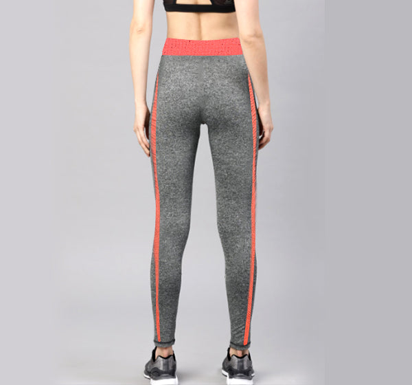 Orange Lined Sports Legging Yoga Pants for Her - Hiffey