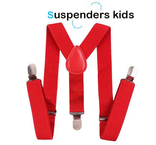Adjustable Suspenders For Kids - Red - Hiffey