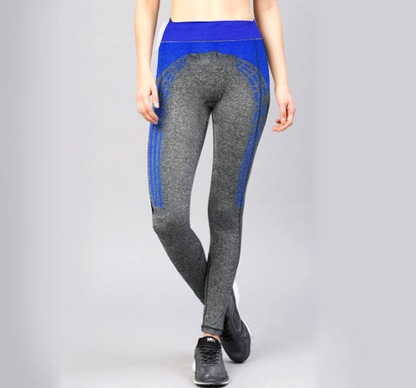 Blue Shaded Sports Legging Yoga Pants for Her - Hiffey