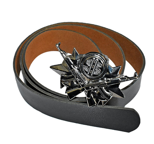 Guns Buckle Belt For Kids - Black - Hiffey