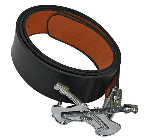Guitar Buckle Belt For Kids - Black - Hiffey
