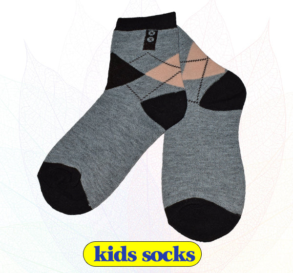 Light Grey & Black Socks for Kids - Hiffey