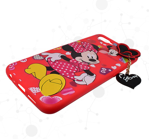 Mickey Mouse Oppo F9 Mobile Back Cover - Red - Hiffey