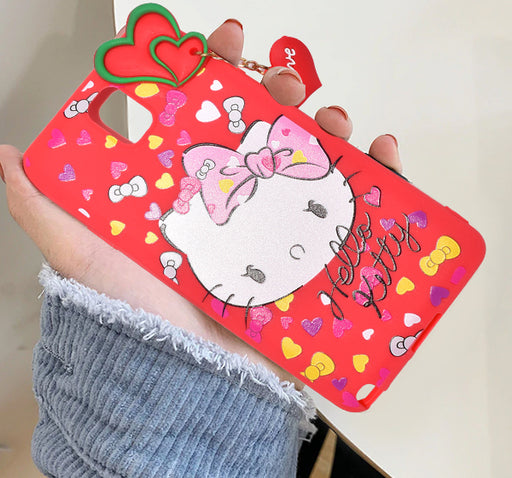 Hello Kitty Multiple Samsung Galaxy Mobile Back Covers - Red - Hiffey