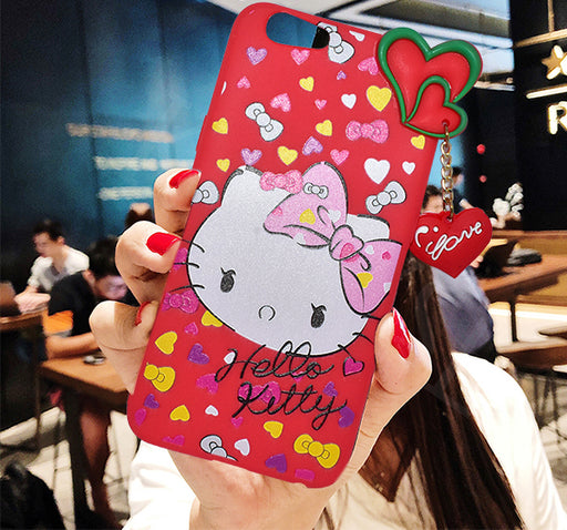 Hello Kitty Oppo F1S Fancy Mobile Cover - Red - Hiffey