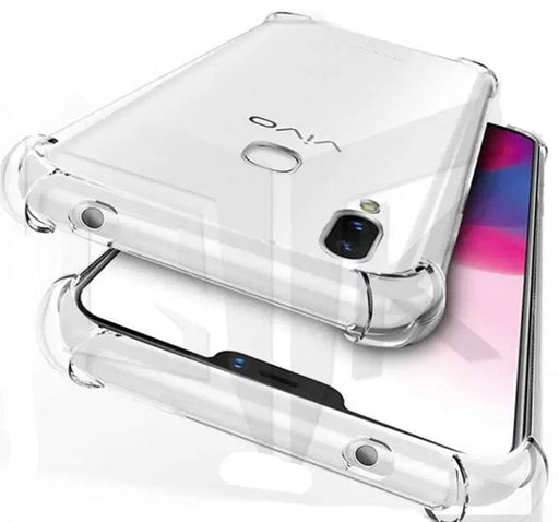 Anti Shock See Through Mobile Back Cover For Vivo V9 - Transparent - Hiffey