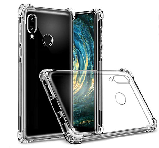 Anti Shock See Through Mobile Back Cover For Huawei Y9 Prime - Transparent - Hiffey
