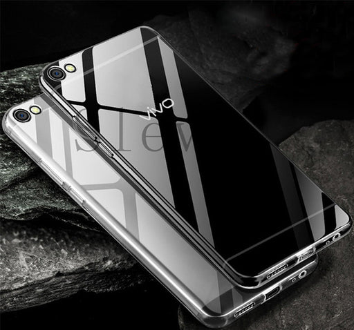 Anti Shock See Through Mobile Back Cover For Vivo Y81 - Transparent - Hiffey