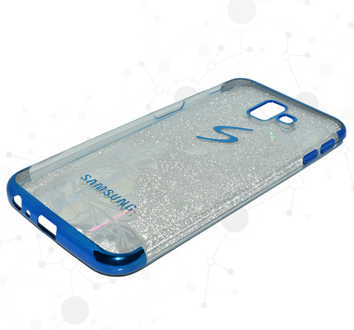 Samsung Galaxy Flower Textured Shiny Mobile Back Covers - Blue - Hiffey