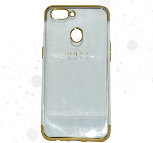 Oppo A5 See Through Transparent Mobile Back Cover - Golden - Hiffey