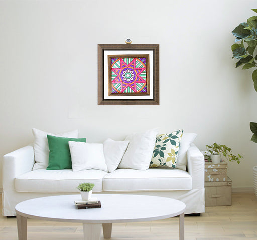 Fiber Wood Made Wall Frame - Multicolor - Hiffey