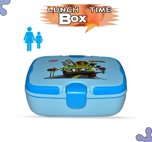 Madagascar To The Zoo Lunch Box For Kids - Sky Blue - Hiffey