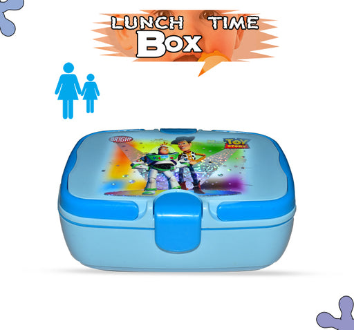 Toy Story Character Lunch Box For Kids - Sky Blue - Hiffey