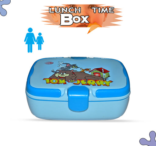 Tom & Jerry Lunch Box For Kids - Sky Blue - Hiffey