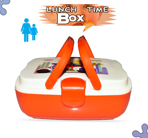 Minions Play Hard Work Hard Lunch Box For Kids - Red - Hiffey