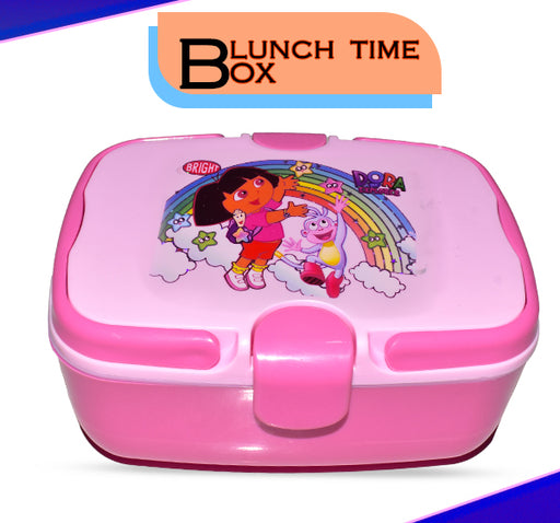 Dora Playing With Stars Lunch Box For Kids - Pink - Hiffey