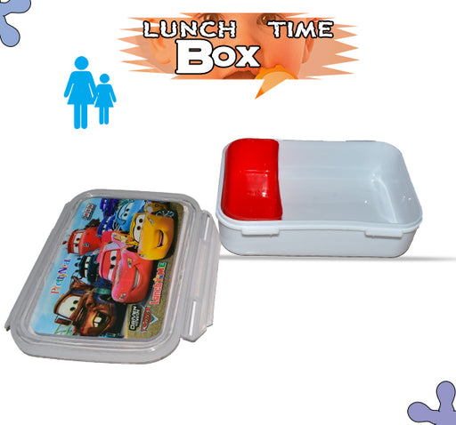 Drive To Win Cars Lunch Box For Kids - White - Hiffey