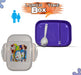Doraemon Lunch Box For Kids - Purple - Hiffey