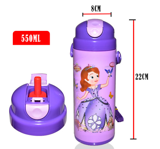 Little Cinderella Character School Thermos For Kids - Purple - Hiffey
