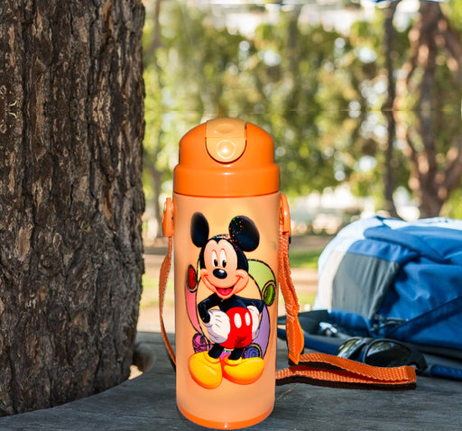 Mickey Mouse Character School Thermos For Kids - Orange - Hiffey