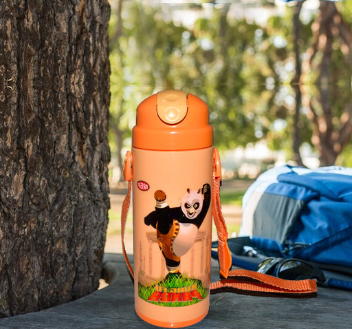 Kung Fu Panda Character School Thermos For Kids - Orange - Hiffey