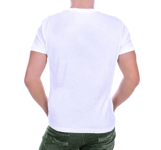 14 August T-Shirt For Men's - Green & White - Hiffey