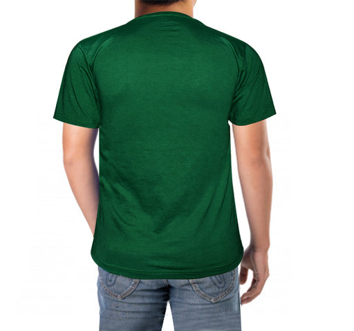 14 August Shaheen Printed T-Shirt For Men's - Dark Green - Hiffey