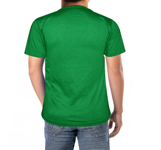 Pakistani Flag Printed T-Shirt For Men's - Light Green - Hiffey