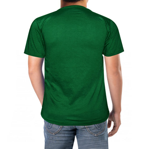 Pakistani Flag Printed T-Shirt For Men's - Dark Green - Hiffey