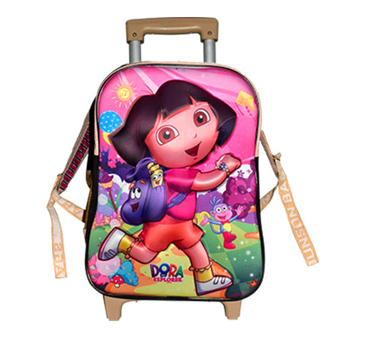 Dora The Explorer Trolley School Bag - Multicolor - Hiffey