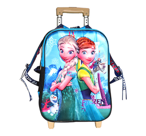 Barbie Princess Frozen Character Trolley School Bag - Multicolor - Hiffey