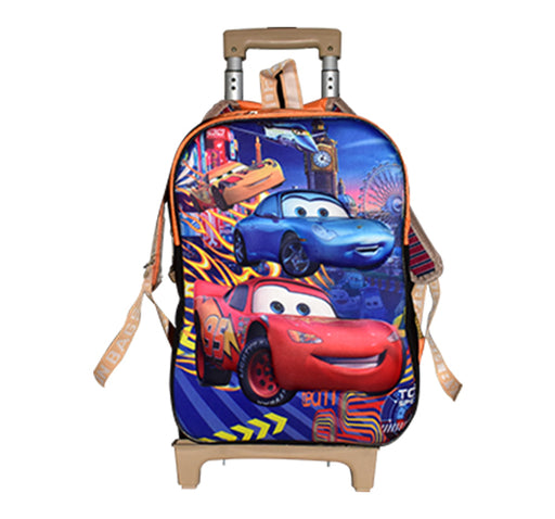 Driven To Win Cars Trolley School Bag - Multicolor - Hiffey