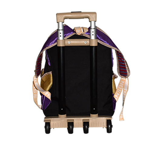 Little Cinderella Riding On Swing Seat Trolley School Bag - Multicolor - Hiffey