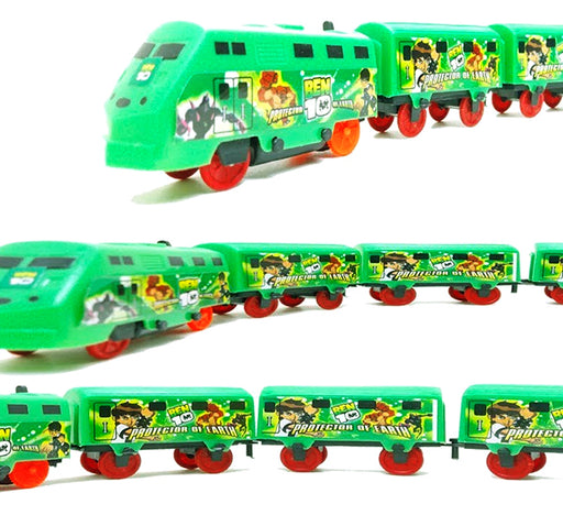 Ben 10 Train Toy For Kids - Green - Hiffey