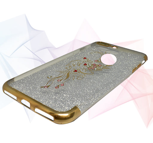 Glitter Beads Design Apple Iphone 7 Back Cover - Golden - Hiffey