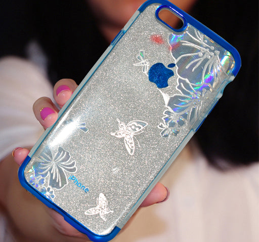 Apple Iphone 6 Shiny Textured Mobile Back Cover - Blue - Hiffey