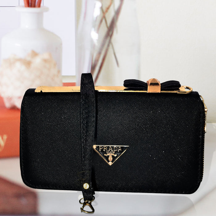 Prada Clutch Bag for Ladies - Black