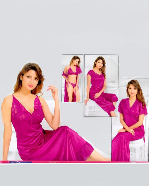 Bell 6 Piece Purple Silk with Less Nighty - 6092B