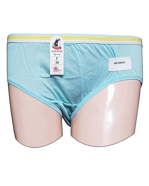 White Dotted Printed Panty - Light Blue - Hiffey