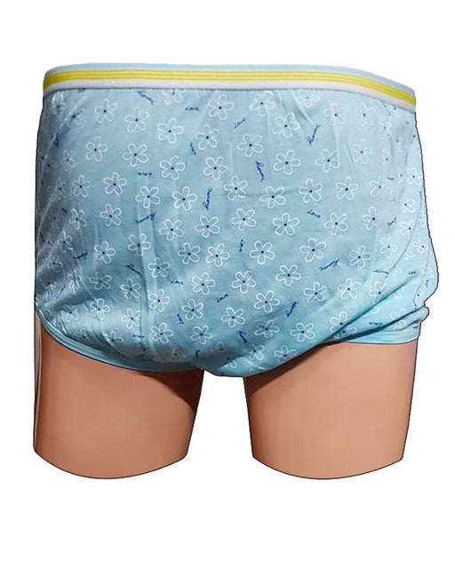 Small Flower Printed Girls Panty - Blue - Hiffey