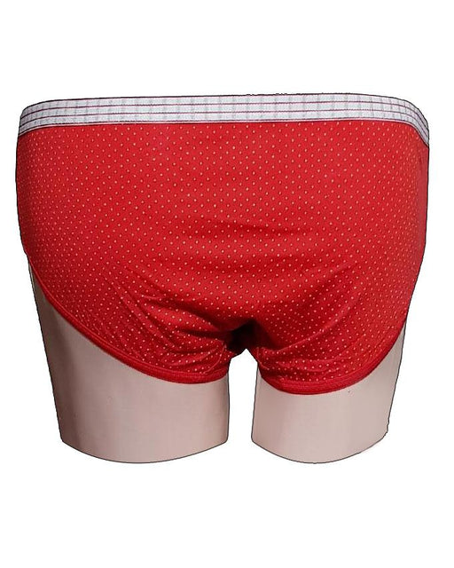 White Dotted Printed Panty - Red - Hiffey