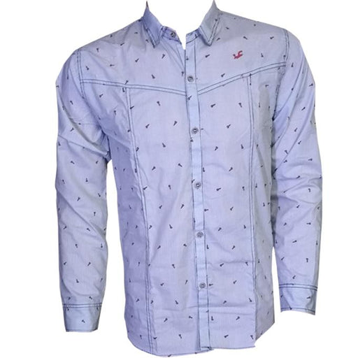 Grey Long Sleeves Casual Shirt - Hiffey