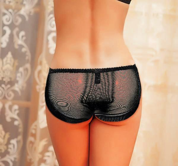 Fancy Lingerie Lace Panty for Girls - Black - Hiffey