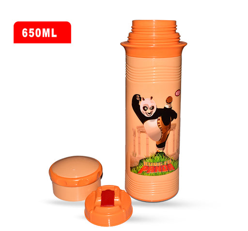 Kung Fu Panda Water Bottle For Kids - Orange - 650 ml - Hiffey
