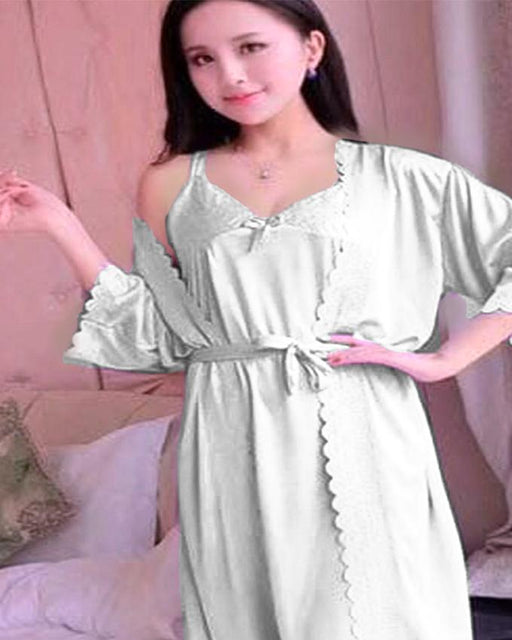 2 Piece Night Gown - Sea Green - Hiffey