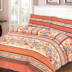 Cotton Concept Printed 3 Piece King Double Bed Sheet Set