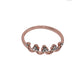 Crown Style Ring For Girls - Golden - Hiffey