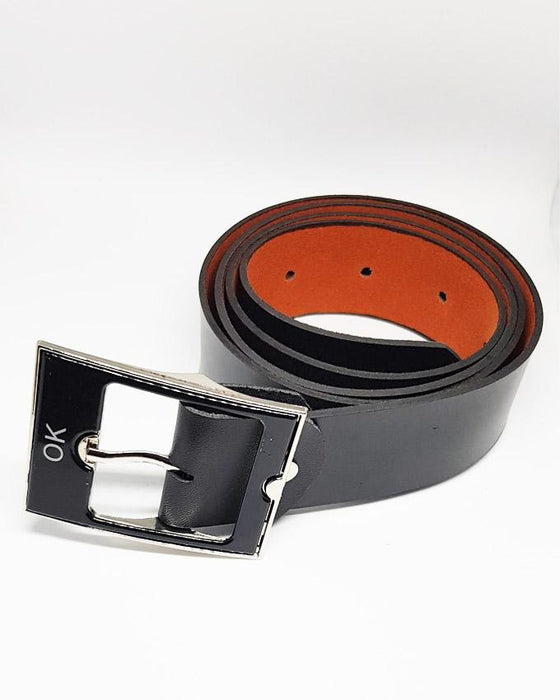 OK Leather Belts For Men - Black - Hiffey